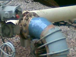 Pipe protected with Belzona 1341 (Supermetalglide)