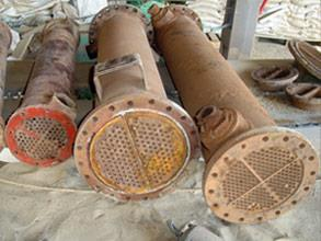 Heat exchangers suffering from electrochemical corrosion